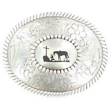 Nocona Cowboy Prayer Belt Buckle - TB