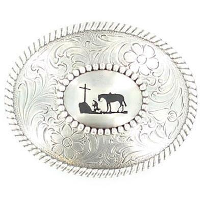 Cowboy Prayer Belt Buckle