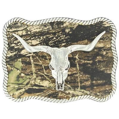 Belt Buckle Mossy Oak Skull