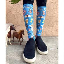 Dreamers and Schemers Off to the Races Boot Socks Pair and A Spare - TB