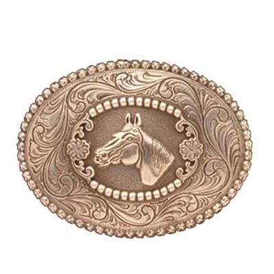Buckle Oval Horsehead And Berry Edge