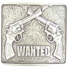 Blazin Roxx Belt Buckle Wanted Pistols - TB