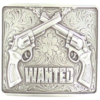 Blazin Roxx Belt Buckle Wanted Pistols
