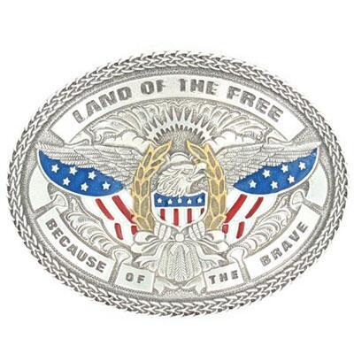 Belt Buckle Land Of The Free