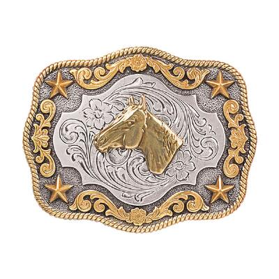 Nocona Antiqued Horse Head Youth Belt Buckle