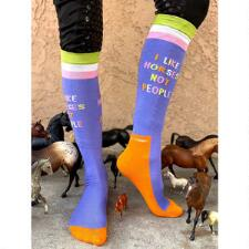 Dreamers and Schemers Dapple Bay Like Horses Knit Boot Socks - TB