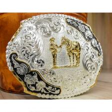 Montana Silversmiths™ Anique Leaves Accent Belt Buckle