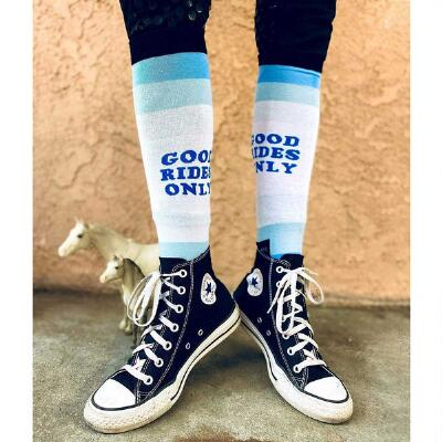 Dreamers and Schemers Good Rides Only Knit Boot Socks