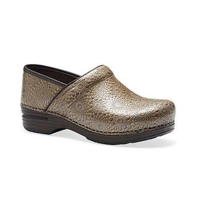 Dansko Pro XP Bronze Medallion Patent Stapled Ladies Clog