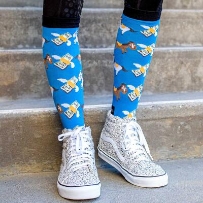 Dreamers and Schemers Cash Money Knit Boot Socks