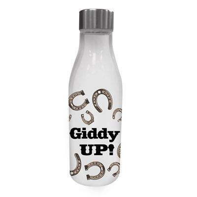 Giddy UP Glass Water Bottle with Lid