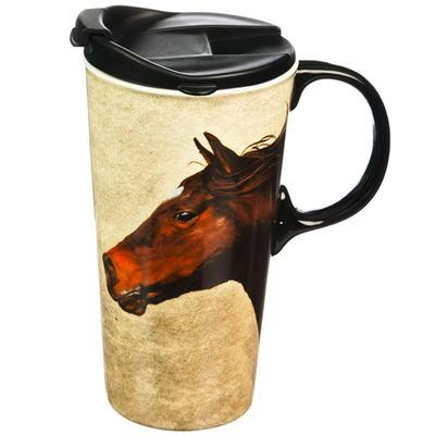 Horse on the Run Travel Coffee Mug