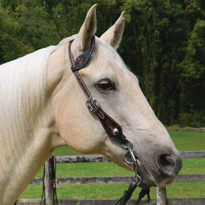 Professionals Choice Floral Tooled Slip Ear Headstall