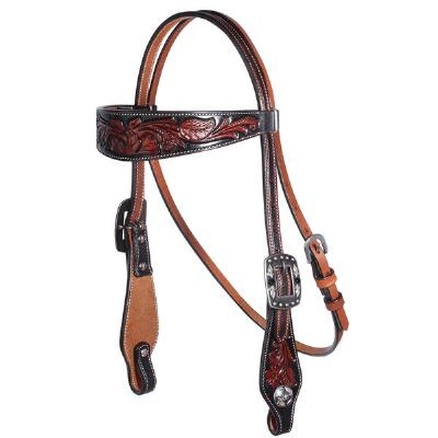 Professionals Choice Floral Tooled Browband Headstall