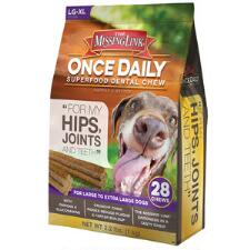 Once Daily Hip and Joint Dental Chews Large Dog 28 Ct - TB