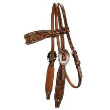 Rodeo Rose Browband Headstall