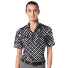 Kerrits Ice Fil Lite Short Sleeve Ladies Quarter Zip - Horse - TB