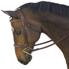M Toulouse Platinum Camden Padded Fancy Stitched Bridle - TB