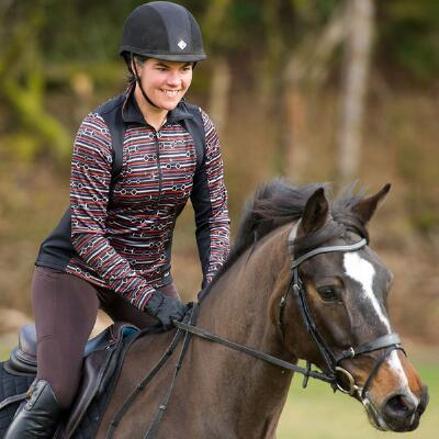 Kerrits Counter Canter Bridle Print Fleece Ladies Pull  Over