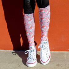 Dreamers and Schemers Pretty In Pink Boot Socks Pair and A Spare - TB