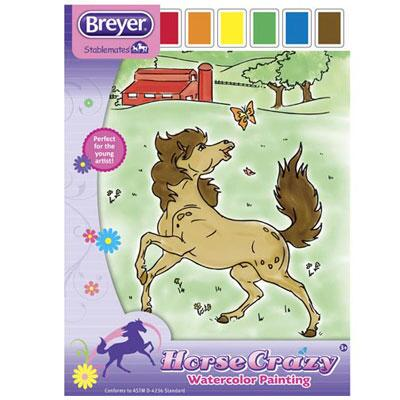 Breyer Stablemantes Horse Crazy Watercolor Painting