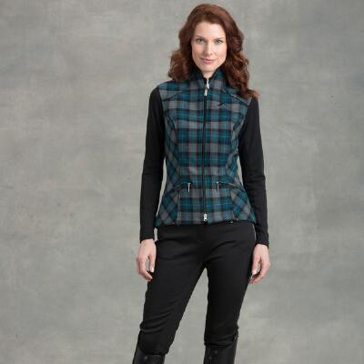 Arista Plaid Ladies Vest