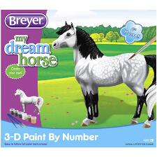 Breyer 3D Paint by Number Dappled Grey Pony