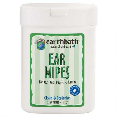 Ear Wipes All Natural Dog Or Cat 25 Ct