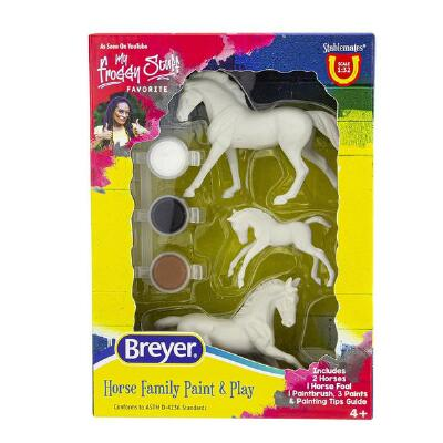 Breyer Stablemates Horse Family Paint & Play