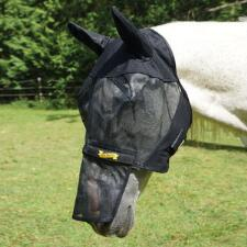 Ultrashield Fly Mask Horse with Ears Removable Nose - TB
