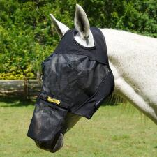 UltraShield Fly Mask Horse No Ears Removable Nose - TB