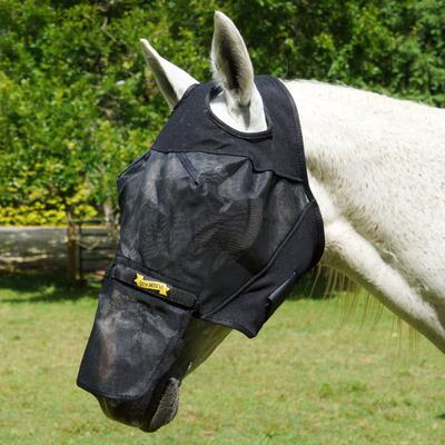 UltraShield Fly Mask Horse No Ears Removable Nose