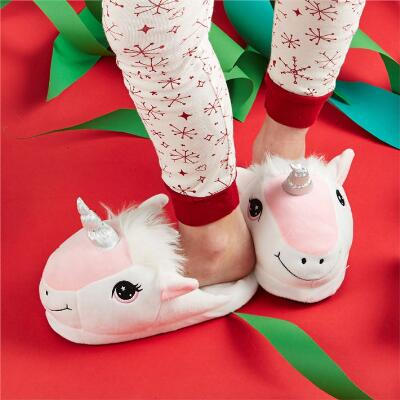 Happy Unicorn Youth Slippers