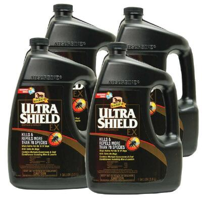 Absorbine Ultrashield Ex Insecticide and Repellent Case of 4 Gallon Free Shipping