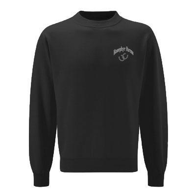 Sweatshirt Left Chest Design Crew Neck