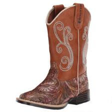 Twister Girls Elizabeth Floral Western Boot - TB