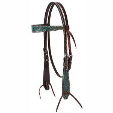 Weaver Carved Turquoise Browband Headstall - TB