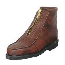 Double H Insulated Brown Leather Mens Winter Zip Boot