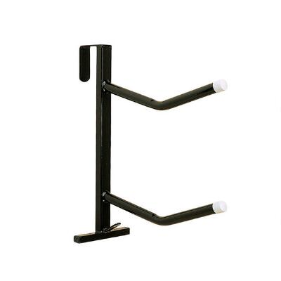 Saddle Rack Double Hook Over Black