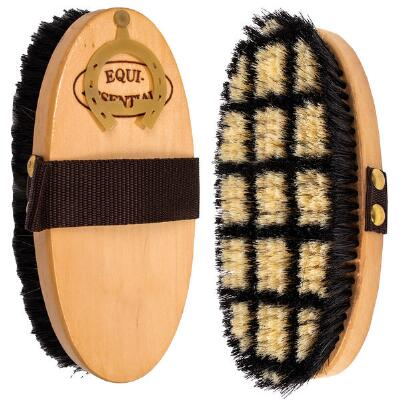 Equi-Essentials Wood Back Horsehair Body Brush