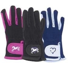 Ovation Hearts & Horses Kids Riding Glove - TB