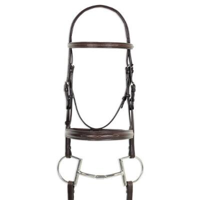 Ovation Fancy Stitched Comfort Crown English Bridle with Wide Noseband