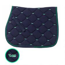 Embroidered Whales AP English Saddle Pad