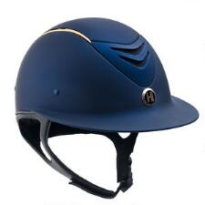 One K Defender AVANCE Wide Brim Helmet with Rose Gold Stripe - TB