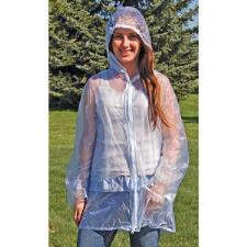 Raincoat Hooded Pvc Ladies Clear - TB