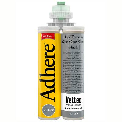 Vettec Adhere Black Glue On Shoe Material 210 cc Cartridge