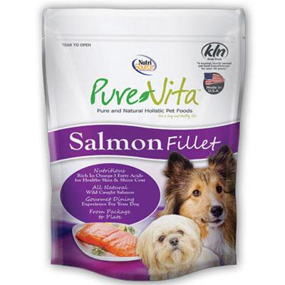 Pure Vita Salmon Fillet Dog Treat 4oz