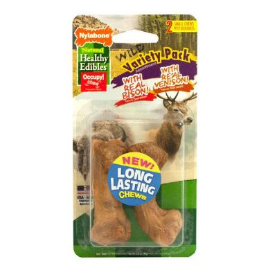 Nylabone Healthy Edibles Wild Variety Pack Small