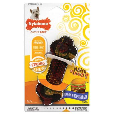Nylabone Flavor Frenzy Bacon Cheeseburger Regular