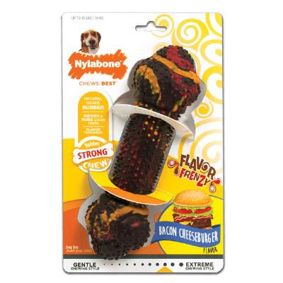 Nylabone Flavor Frenzy Bacon Cheeseburger Wolf